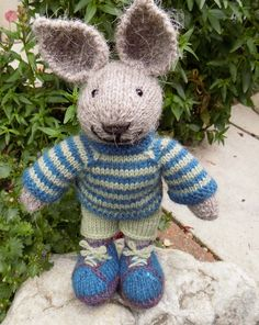 Arthur a knitted rabbit