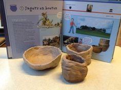 klei potten maken zoals de jagers/ boeren deden geschiedenis