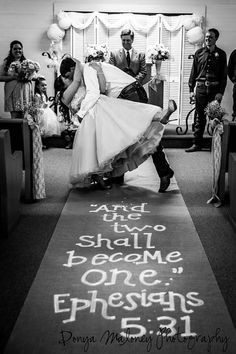 "Burlap Aisle runner - "" and we two shall become one"""