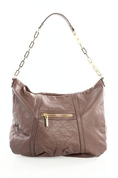 Tory Burch Mauve Quilted Gold Chain Shoulder Bag - $108