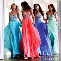 Sherrill Hill prom dresses.