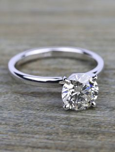 A beautiful 1.50 Carat Round-Cut Diamond Solitaire Engagement Ring!