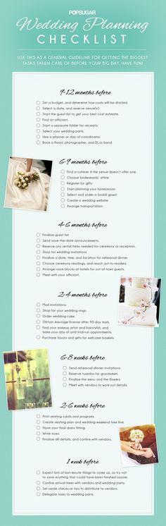 Printable Wedding Planning Checklist for DIY Brides Weddings - wedding planning checklist