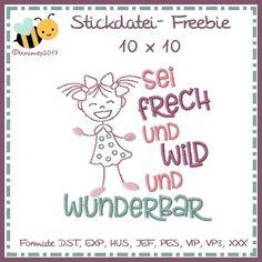 binimey Freebie Stickdatei für KW 08-2017