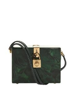 Marble-effect Plexi clutch bag | Dolce