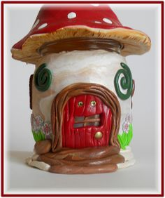 Polymer Clay Wee Folk Light Up Jar    Handcrafted by Kellee Paschall