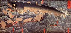 讃岐院眷族をして為朝をすくう図(幕末の浮世絵師・歌川国芳の画)の拡大画像