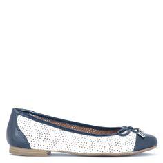 Caprice cipő   Sötétkék-fehér színű Caprice cipő. Lapos balerina cipő http://chix.hu