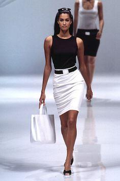 90's fashion, model Yasmeen Ghauri
