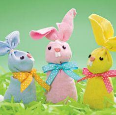 Pasqua: lavoretti per bambini. Coniglietti pasquali come fare