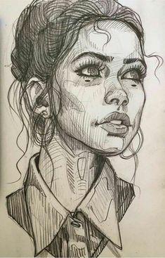 Art Design Illustration Bleistift Portraitzeichnung … - Indispensable address of art Art design illustration pencil portrait drawin Pencil Portrait Drawing, Portrait Sketches, Art Drawings Sketches, Portrait Art, Drawing Portraits, Pencil Drawings, Pencil Art, Sketches Of Faces, Sketch Art