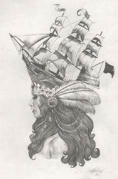 #tattoo #sketch #ship