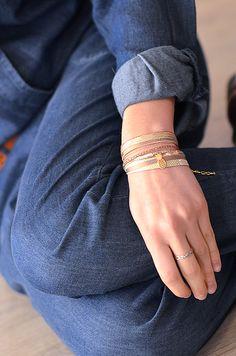 NETZA Design / wrap leather bracelet / photo: Maêva Martin