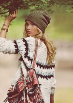 Love the hat... and everything else...  Free People September 2013 } THIS LOOK