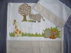 lençol de berço padrão americano em percal 200 fios com fronha R$ 68,00