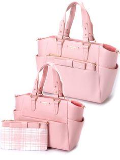 Samantha Vega multi-purpose pink bow bag
