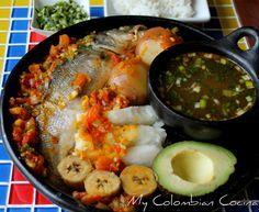 My Colombian Cocina Baked Salmon Recipes, Fish Recipes, Seafood Recipes, Comida Latina, Colombian Cuisine, Cuban Dishes, Hispanic Kitchen, Island Food, Latin Food