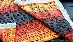 "Nana's ""Square Dancing Dragonflies"" - free crochet blanket pattern by Des Maunz / Nana's Crochet Creations"
