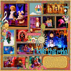 It's a Small World; Disney scrapbooking; digiscrap; Layout by Quiltymom
