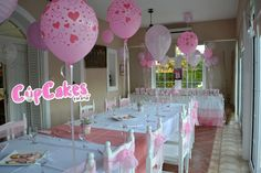 Pretty Pink Baptism Party #pink #baptism