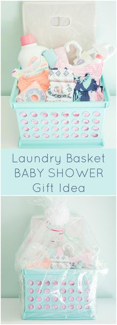 Laundry Basket Baby Shower Gift   70+ Inexpensive DIY Gift Basket Ideas    DIY Gifts