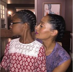 Tracee Ellis Ross Twinning With Her TV Daughter @marsaisworld #Blackish - http://community.blackhairinformation.com/hairstyle-gallery/celebrities/tracee-ellis-ross-twinning-with-her-tv-daughter-marsaisworld-blackish/