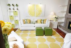 I love a white room with pops of color. Not to mention how hot the designer is...David Bromstad!