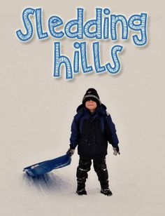 Sledding Hills in Columbus, Ohio: Listing of great areas to sled.