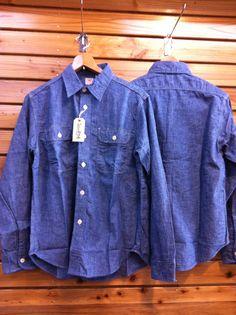シュガーケーンからシャンブレーワークシャツが入荷しました。価格8,295円