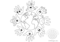 children around the world Multicultural Activities, Bible Activities, Kindergarten Activities, Doodle Coloring, Coloring Books, Coloring Pages, School Projects, Art Projects, Classroom Crafts