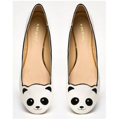 Panda flats! Cushioned inside, and smiley panda face on the front...adorable :) From $19.50 in the shoe section of www.pandathings.com