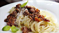 no - Finn noe godt å spise Spaghetti Bolognese, Bruschetta, Pasta Dishes, Food Inspiration, Risotto, Main Dishes, Bacon, Cooking Recipes, Yummy Recipes