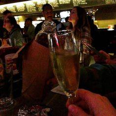 A proper toast between a 40oz & prosecco. (Photo by @brainrubiks)  #cambma #cambridgema #cambridge #inmansquare #boston #bar #tavern #beer #craftbeer #wine #cheers by bukscambridge November 28 2015 at 11:40AM