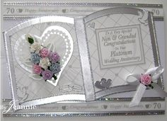 Jeannie Donnelly uploaded this image to 'July 2010 on'. See the album on Photobucket. Anniversary Congratulations, Wedding Anniversary Cards, Unique Cards, Creative Cards, Kirigami, Kanban Cards, Acetate Cards, Wedding Cards Handmade, Card Book