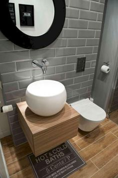 Best Scandinavian Bathroom Ideas You Should Know - Gäste WC - Bathroom Decor Bathroom Toilets, Small Bathroom, Bathroom Sinks, Bathroom Ideas, Bathroom Updates, Bathroom Lighting, Modern Bathroom Design, Bathroom Interior Design, Ideas Baños