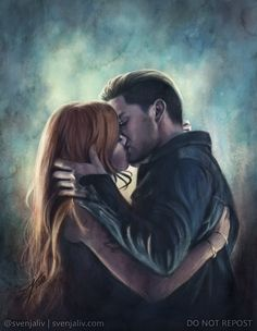 Drawn by svenjaliv . the mortal instruments, jace herondale, clarissa 'clary' fray, shadowhunters Clary Et Jace, Shadowhunters Clary And Jace, Jace Lightwood, Shadowhunters The Mortal Instruments, Clary Fray, Dominic Sherwood, Clace Fanart, Cassandra Clare Books, The Dark Artifices