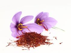 Saffron spice comes from the flower, Crocus Sativus. It can take up to 80 000 flowers to make one pound of saffron spice! Saffron Crocus, Saffron Flower, Saffron Tea, Saffron Health Benefits, Saffron Extract, Endocannabinoid System, Juicing Benefits, Oil Benefits, Anti Aging Facial
