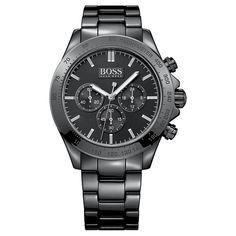 Hugo Boss 1513197 Ikon Ceramic Watch In Black Hugo By Hugo Boss, Hugo Boss Homme, Mens Watches Online, Mens Designer Watches, Watches For Men, Women's Watches, Sporty Chic, Gents Bracelet, Bracelet Watch