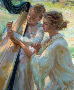 Beautiful Women Paintings By Daniel F. Gerhartz photo