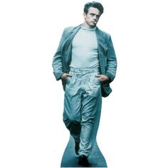 """Size: 6' 3"""" - Lifesize cutout of James Dean. James Dean is most known for his role in Rebel Without a Cause, a movie about a rebellious teenager. The film opened about a month after James Dean had a fatal car crash, unfortunataly."""