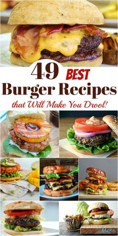You might as well go grab your drool napkin because you won't be able to help yourself while browsing the Best Burger Recipes! 49 Best Burger Recipes that Will Make You Drool! - 49 Best Burger Recipes that Will Make You Drool! Burger Toppings, Burger Menu, Gourmet Burgers, Good Burger, Burger Ideas, Burger Party, Amazing Burger, Pizza Burgers, Turkey Burgers