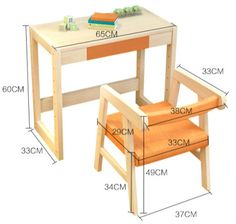 Gallery Of The World's Largest Collection of Woodworking Plans! Wooden Pallet Projects, Wooden Pallet Furniture, Small Furniture, Woodworking Furniture, Woodworking Plans, Desk And Chair Set, Kids Table And Chairs, Wood Chair Design, Furniture Design