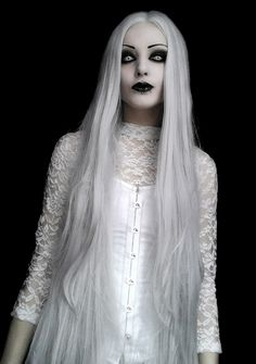 #whitegoth #whitewitch #whitehair