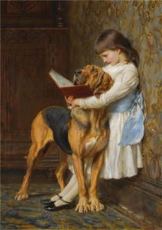 """Compulsory Education"" or ""The Reading Lesson"" -- by Charles Burton Barber…"