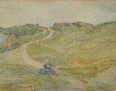 Jim Frater, Walchers boerinnetje in de duinen bij Domburg, 1913