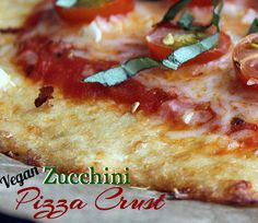 #vegan and #glutenfree zucchini pizza crust recipe from healthyvoyager.com