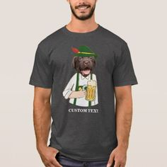 #Funny Oktoberfest Labrador Dog Beer Lover Custom T-Shirt - #labrador #retriever #puppy #labradors #dog #dogs #pet #pets