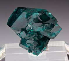 Dioptase is an intense emerald-green to bluish-green copper cyclosilicate mineral. Minerals And Gemstones, Rocks And Minerals, Stones And Crystals, Gem Stones, Diamond Picture, Cool Rocks, Green Copper, Mineral Stone, Rocks And Gems