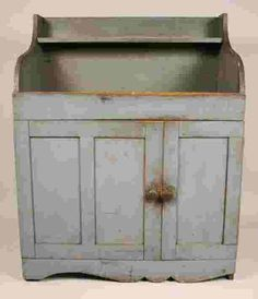 Antique Dry Sink, Mid Atlantic States, Primitive Antiques, Sink In, Country Furniture, Cupboards, Wabi Sabi, Primitives, Shades Of Blue