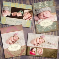 love these birth announcement templates!
